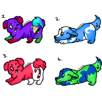 Puppy Adoptables! by HackingSlave