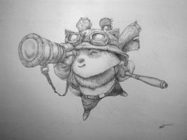 Captain Teemo on duty! by JohnTheViolator