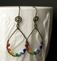 Chakra earrings by elderarc