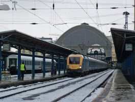 1047 010-2 wait with fast train in Budapest by morpheus880223