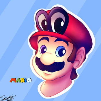 Mario and Cappy by ArtisterMan