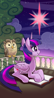 My little pony tarot card 7. The Star -Twilight by kairean