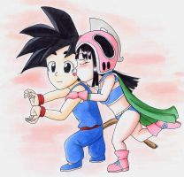 Chi Chi kisses Goku by QuesoGr7