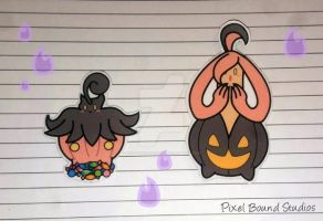 Pumpkaboo/Gourgeist Stickers