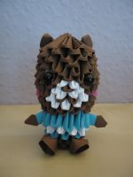 3D Origami - Teddy Bear w/ striped Shirt - 1 by Mixowelle
