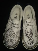 harry potter custom kicks by lady-dark-art