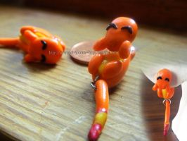 Charmander Earrings by NerdEcrafter