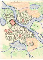 Old Calleria city map by gmfate