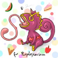 Purple Kecleon by NashiHoshi