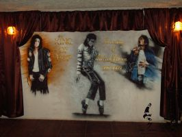 king of pop fresco by madsparkairbrush