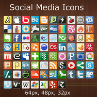 77 social media network icons by FifteenCentIcons