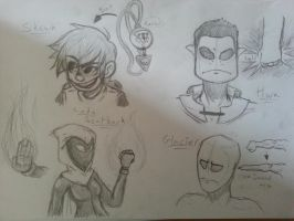 E.G. Character sketches (2) by Weaponized-Wafflez