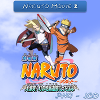 Naruto Movie 2 ICO and PNG by bryan1213