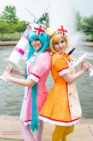 Miku and Rin Love Colored Ward by Hikari-Cosplay