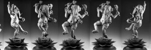 Ganesha: Unpainted, Turnaround by rgyoung