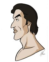 Sylvester Stallone toon by Kryptoniano