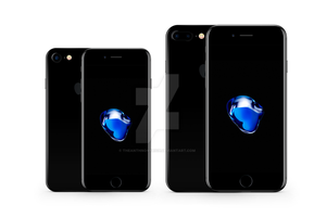 iPhone 7 and 7 Plus Vector Mockup - Jet Black by theanthnonyrich