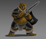 Bear warrior by Dj-Rodney
