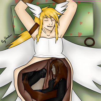 [Art Trade] Satiated and Love by BigClaudia