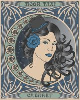 Moon Taxi Poster by jengartist