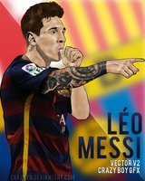 LIONEL MESSI VECTOR by CrazyyB