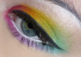 Rainbow makeup by VanillaBlitz