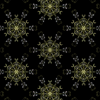 Golden Lace Flowers by CatSpaceDesign