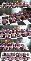 Zerg Chess Set Full by ChibiSilverWings