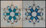 Madeleine - Stained Glass Snowflake by Lokichica