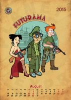 Futurama, calendar 2015, page 8 by bear-bm