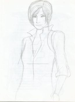 Ada Wong sketch art (possibly just a WIP) by bunchadoodles