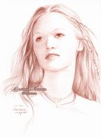 Julia Stiles sketch by dh6art