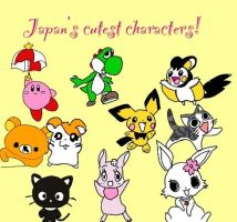 Japan's cutest characters :D by alucardserasfangirl