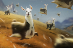 Llamaaaaaaa by Paintpaul