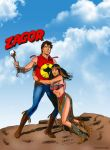 Zagor and Witch Gallieno Ferri by winchester01