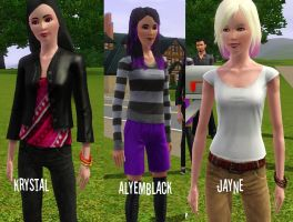 The three Sims by Flaamez