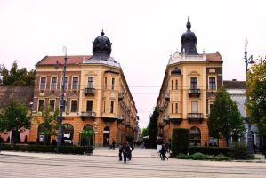 Debrecen buildings by TheNiceCharlie