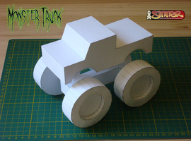 Monster Truck papertoy by Sinner-PWA