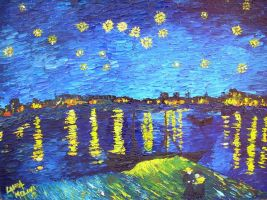 Starry night on the Rhone by LauraMel