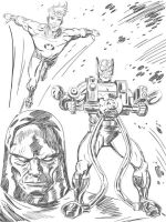 New Gods Sketch by jaypiscopo