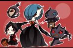Pokemon - Gardevoir and Friends Trick or Treating by Kouken