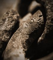 Rusted Chain links by PAlisauskas