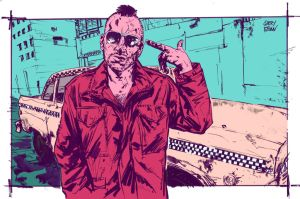Taxi Driver - Neon Noir Style by jamesabels