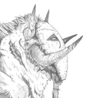 Mask Creature With Fluff by Sunkaro
