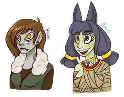 Spooky girls by Ninjashewolf