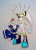 Trainer Silver and his Meowstic by GothNebula