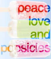 Peace Love and Popsicles! by colormecrazi