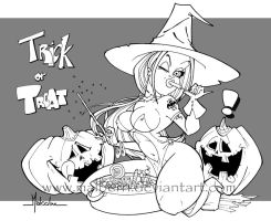 """Trick or Treat"" lines by malberri"