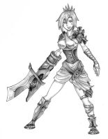 LoL: Riven by KeybladerEva
