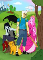 Adventure Time with Fin and Jake by AltairA7Vn